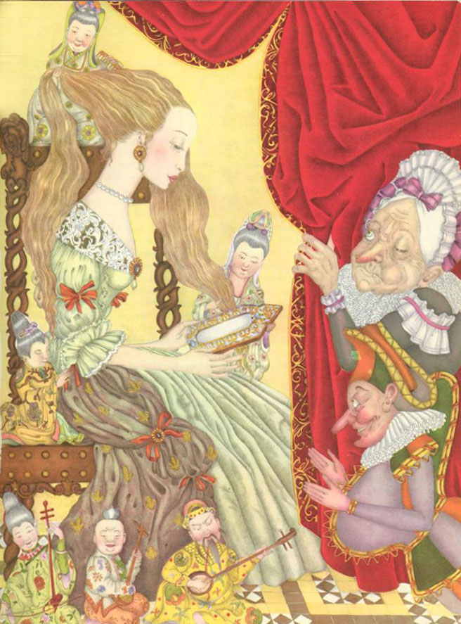 Green Snake  The Fairy Tale Book  Adrienne Segur illustration