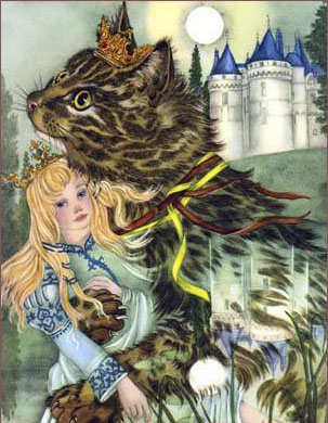 Kip the Enchanted Cat   The Fairy Tale Book  Adrienne Segur illustration