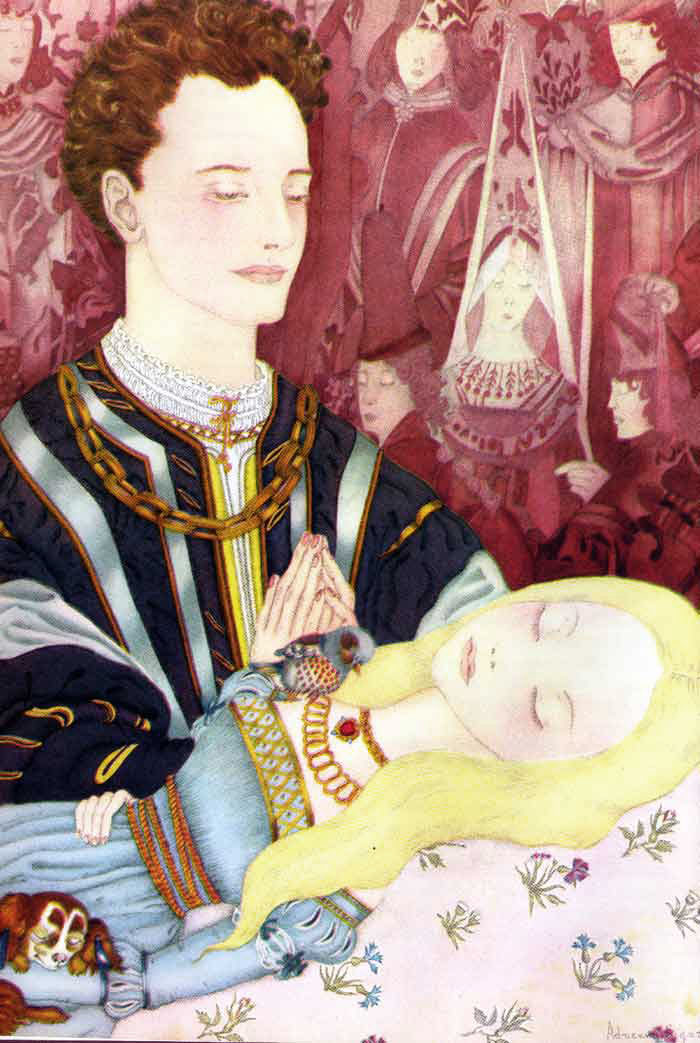 The Prince Finds Sleeping Beauty   The Fairy Tale Book  Adrienne Segur illustration