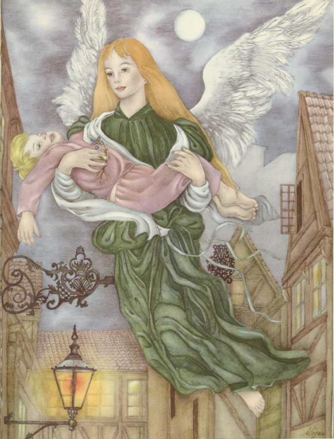 Christmas Angel  Ib and Christine  Adrienne Segur illustration