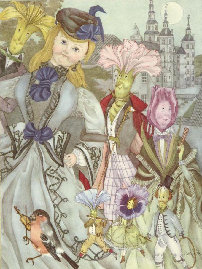 The Flowers of Little Ida  Ib and Christine  Adrienne Segur illustration