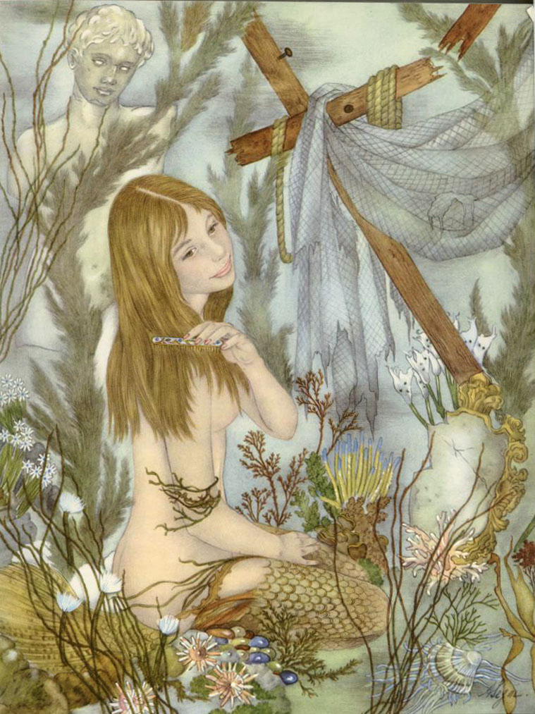 Undine (Ondine) illustration by Adrienne Segur