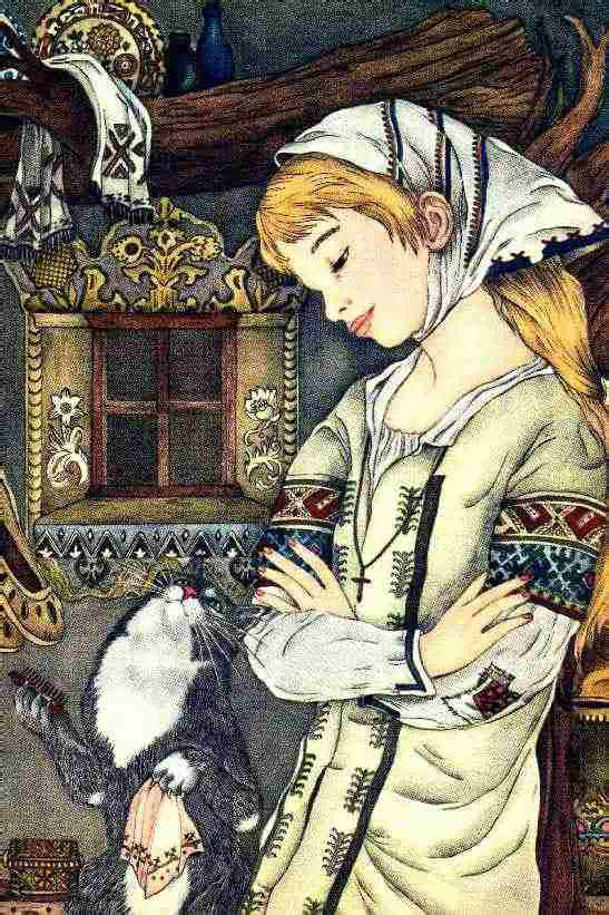 Baba Yaga Cat  My Big Book of Cat Stories  Adrienne Segur illustration
