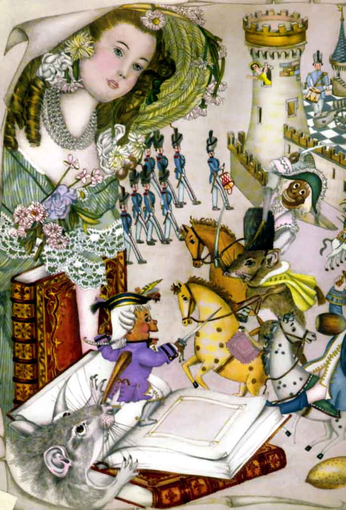 Battle Royale, illustration to the Nutcracker by Adrienne Segur