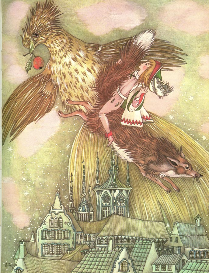 The Golden Bird 1  The Golden Bird  Adrienne Segur illustration