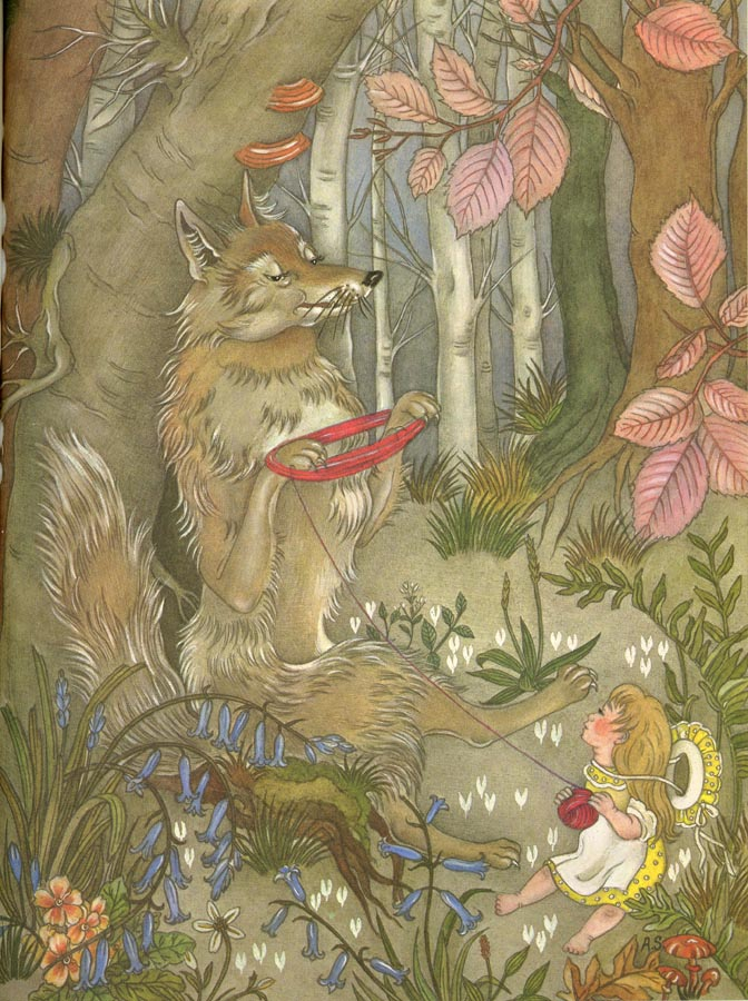 Catherine and Her Wolf  The Golden Bird  Adrienne Segur illustration