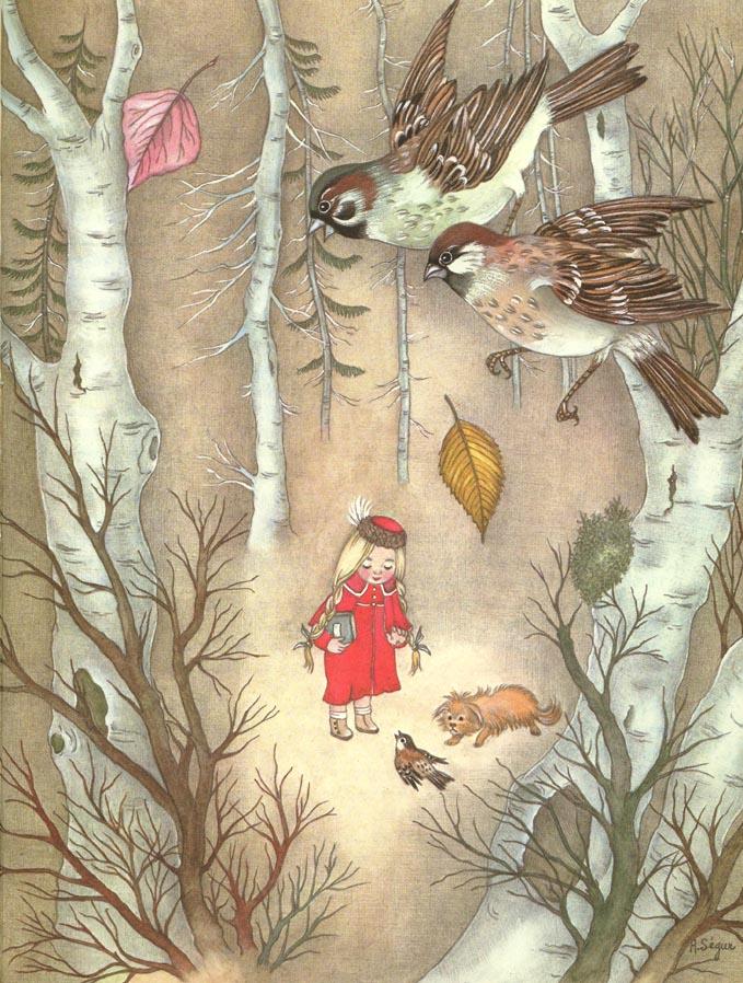Story of a Grateful Bird  The Golden Bird  Adrienne Segur illustration