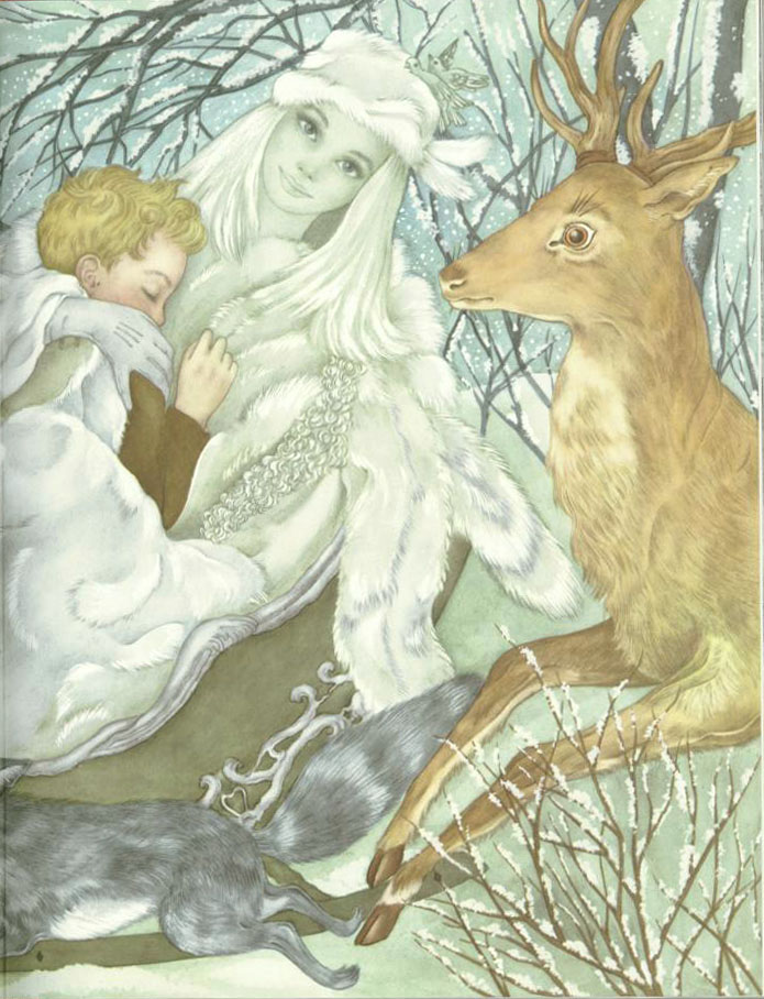 The Snow Queen Pt. 2  The Red Shoes  Adrienne Segur illustration