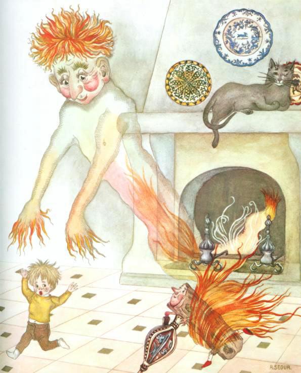L'Enfant et les Sortileges, Fireplace