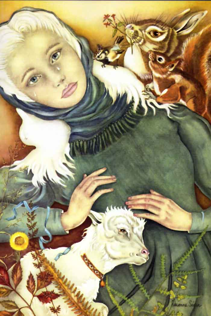 Alenka and Her Brother  The Snow Queen and Other Stories  Adrienne Segur illustration