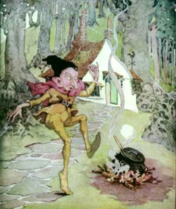 Rumplestiltskin. Anne Anderson illustration to Old, Old Fairy Tales.
