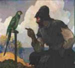 N.C. Wyeth illustrations to Robinson Crusoe