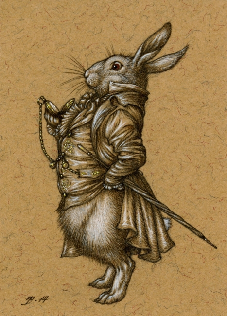White Rabbit Illustration by Niroot Puttapipat
