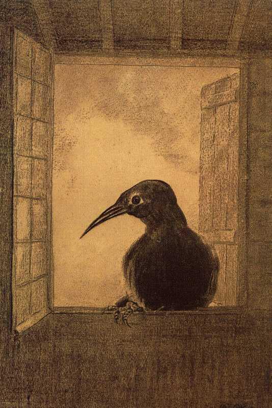 Raven by Odilon Redon