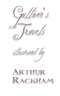 Arthur Rackham's Illustration to Gulliver's Travels by Jonathan Swift