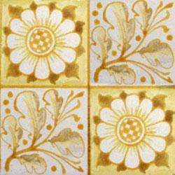 William Morris patterned tile: Longden