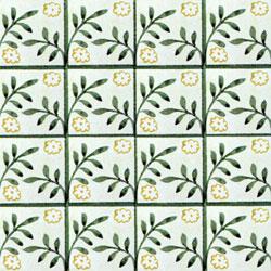 William Morris patterned tile: Peterhouse Diaper