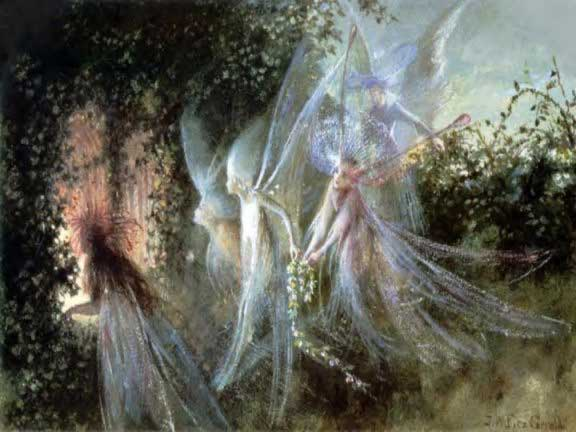 Fairies Looking Through a Gothic Arch