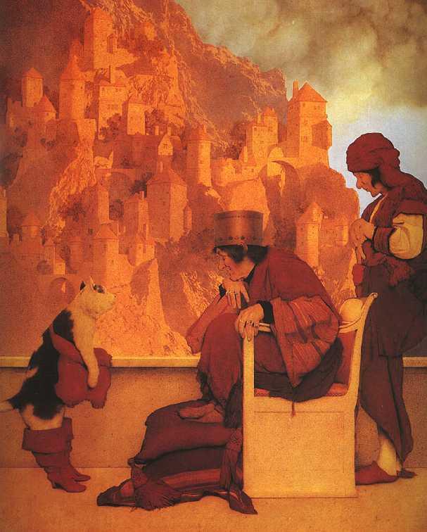 Maxfield Parrish illustration