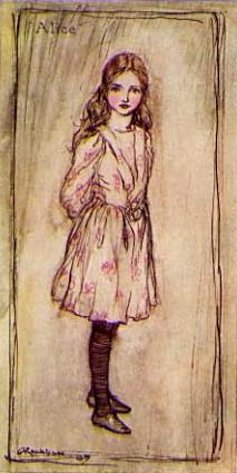 Alice in Wonderland, Frontispiece, by Arthur Rackham