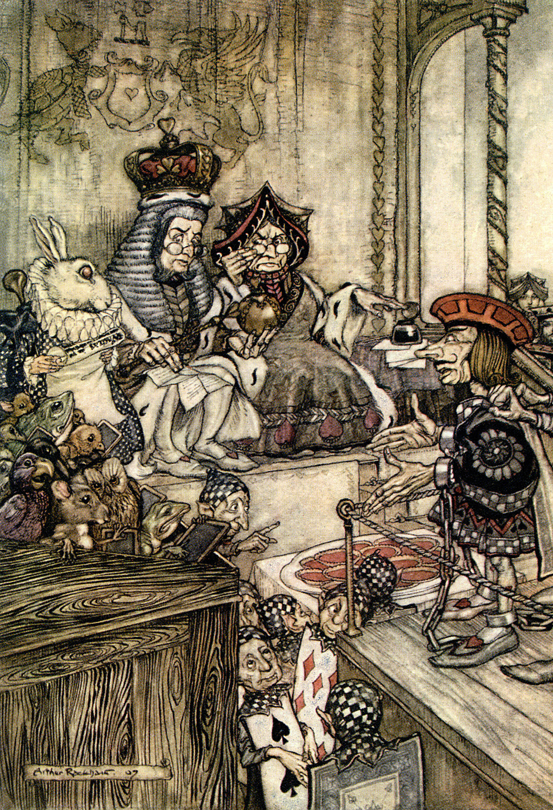 Who Stole the Tarts? from Alice in Wonderland, Illustration by Arthur Rackham