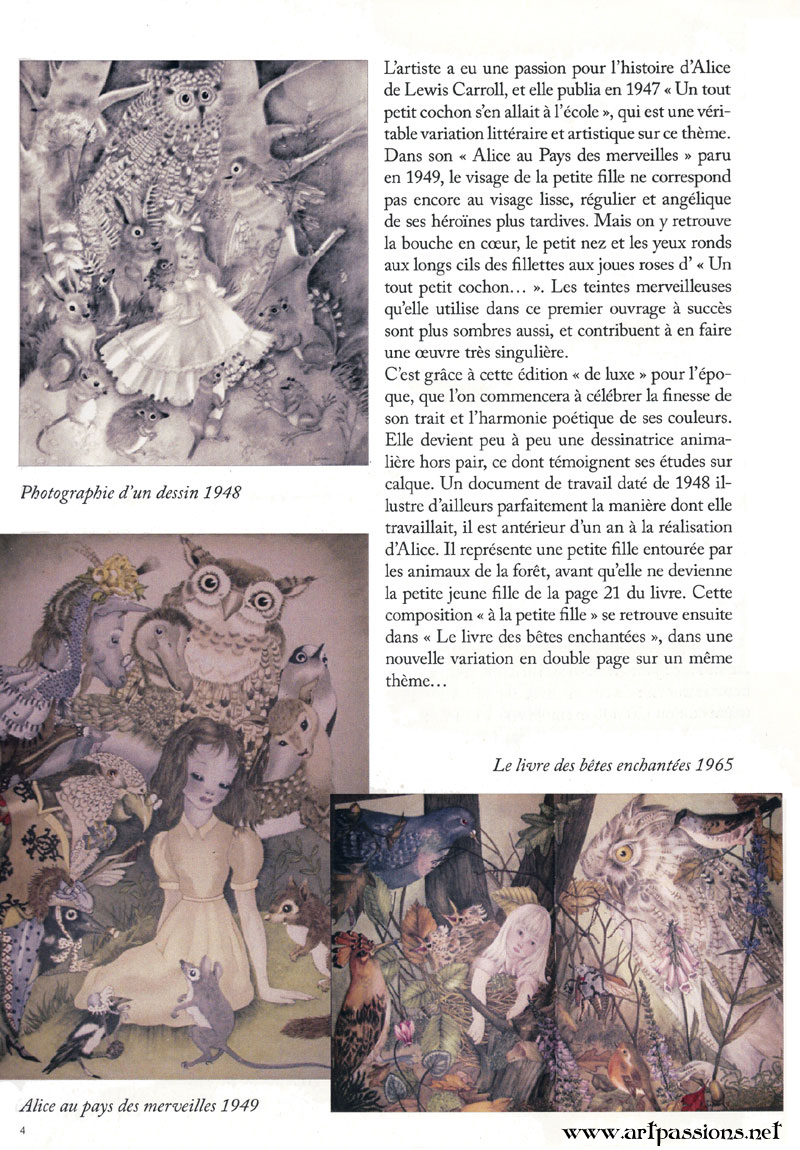 Adrienne Segur, Images from Alice in Wnonderland